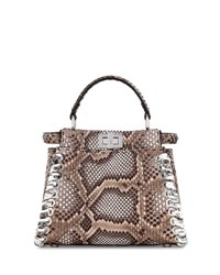 Fendi Peekaboo Small Whipstitch Satchel Bag Multi