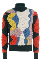 Peter Pilotto Slalom Turtleneck With Alpaca Multicolor