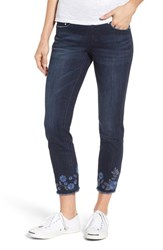 Jag Jeans 'S Amelia Embroidered Slim Ankle Meteor Wash