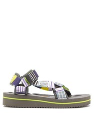 Suicoke Depa V2 Eu2 Striped Sandals Purple Multi