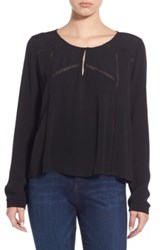 Astr Long Sleeve Blouse Black