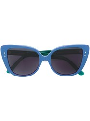 Selima Optique 'Adri O' Sunglasses Acetate Blue