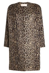 Brock Collection Leopard Print Coat With Wool And Alpaca Animal Print