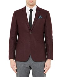Ted Baker Austin Wool Blend Regular Fit Sport Coat Red