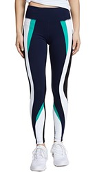 Splits59 Force Workout Leggings Navy Kelly White Black