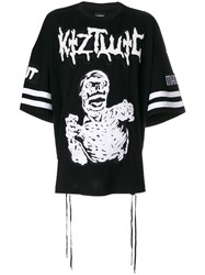 Ktz Zombie Embroidery T Shirt Black