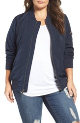Levi'sr Plus Size Women's Levi's Ma 1 Satin Bomber Jacket Navy