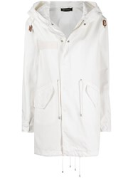 Mr And Mrs Italy Drawstring Detail Hooded Parka Coat 60