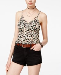 American Rag Juniors' Printed Babydoll Top Only At Macy's Classic Black Combo