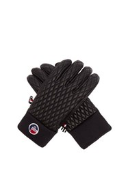 Fusalp Athena Technical Leather Ski Gloves Black