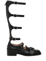 Gucci 20Mm Queercore Leather Gladiator Boots