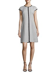 Elie Tahari Agatha Embroidered Sheath Dress Light Grey