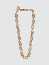 Versace Greca Chain Choker Necklace Gold