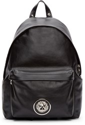 Versus Black Buffed Leather Backpack