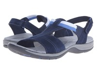 Easy Spirit Sumana Navy Navy Suede Women's Sandals Blue