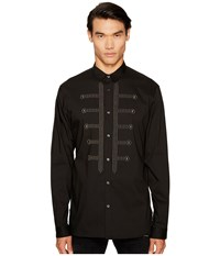 Just Cavalli Studded Button Down Black Men's Clothing