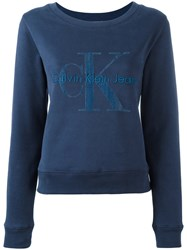 Calvin Klein 'Hadley True Icon' Sweatshirt Blue
