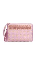 Mcm Pouch With Shoulder Strap Prism Pink