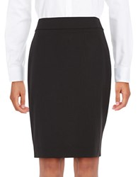Calvin Klein Vented Pencil Skirt Black