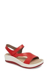 Bionica Women's Cybele Platform Sandal Fire Red Leather