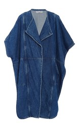 Apiece Apart Fatima Denim Wrap Cape Medium Wash