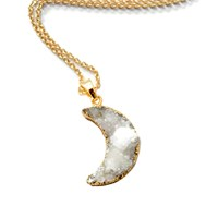 Couture By Lolita Agate Druzy Half Moon Crystal Necklace