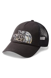The North Face Low Pro Trucker Hat Black Black Grey Floral