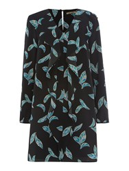 Biba Feather Printed Shirt Dress Multi Coloured