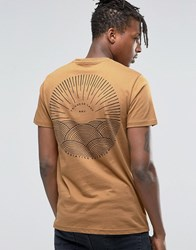 Friend Or Faux Back Print T Shirt Tan