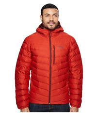 Mountain Hardwear Stretchdown Hooded Jacket Dark Fire Men's Coat Orange