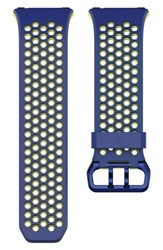 Fitbit Men's Ionic Accessory Band Blue Yellow
