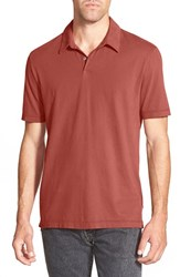 Men's James Perse Trim Fit Sueded Jersey Polo Sunstone