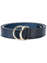 Santoni Ring Buckle Belt Men Leather M Blue