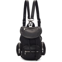 Mcq By Alexander Mcqueen Black Mini Loveless Backpack