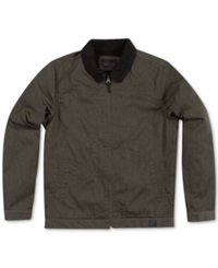 O'neill Faux Shearling Lined Full Zip Man Jacket Army