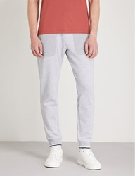 Michael Kors Striped Trim Cotton Blend Jogging Bottoms Heather Grey