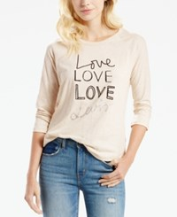 Levi's Love Graphic Top Natural
