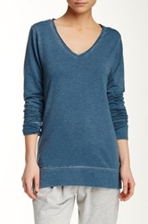 Central Park West The Wren Long Sleeve Tee Blue