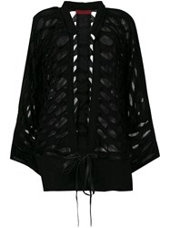 Di Liborio Layered Oversized Jacket Black