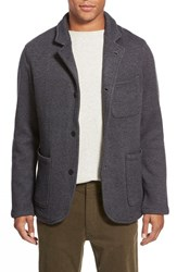 Men's Relwen Knit Cardigan Blazer Dark Grey