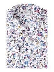 Turner And Sanderson Men's Walcot Paisley Floral Shirt White