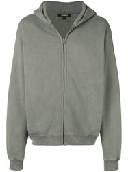 Yeezy Season 6 Zip Up Hoodie Grey