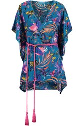 Matthew Williamson Printed Washed Silk Kaftan Multi