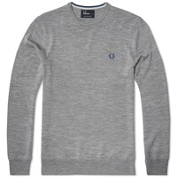 Fred Perry Classic Crew Neck Sweater Steel Marl
