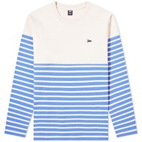 Patta Long Sleeve Stripe Tee Blue