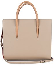 Christian Louboutin Paloma Large Leather Tote Light Grey