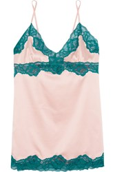 Elle Macpherson Body Sass Lace Trimmed Stretch Satin Chemise Pastel Pink
