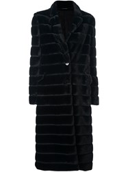 Tagliatore High Neck Mid Coat Black