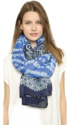 Theodora And Callum Anguilla Scarf Blue Multi