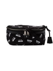 Moschino Black And White Logo Print Cross Body Bag